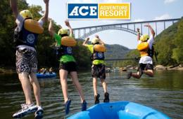 $79 for 2-Night Kid-Friendly White Water Rafting & Floating Playground Trip - ACE Adventure Resort in WV (50% Off!)