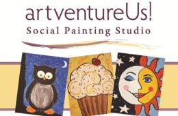 $17 Kids Painting Class at ArtventureUs! at Kentlands in Gaithersburg (32% Off)