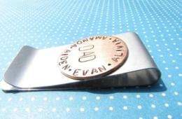 $20 for Personalized Hand-Stamped Money Clip -Great for Dads & Grads! - Includes Shipping (50% off)