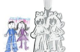 $26 for Custom Sterling-Silver Pendant on an 18-Inch Cord from KidzCanDesign – Includes Shipping! (81% off - $135 Value)