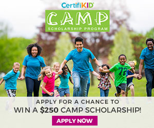 Apply for a chance to win a $250 camp scholarship