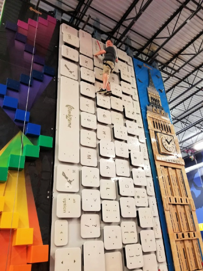 Parents Climbing at ClimbZone in White Marsh