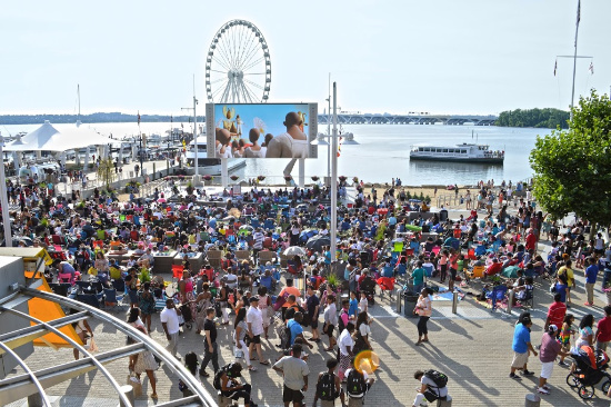 Movies on the Potomac at the National Harbor in Washington, D.C.