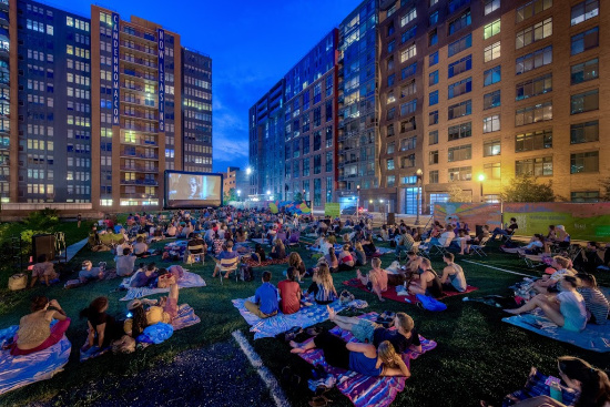 NoMa Summer Screen Outdoor Movie in Washington, D.C.