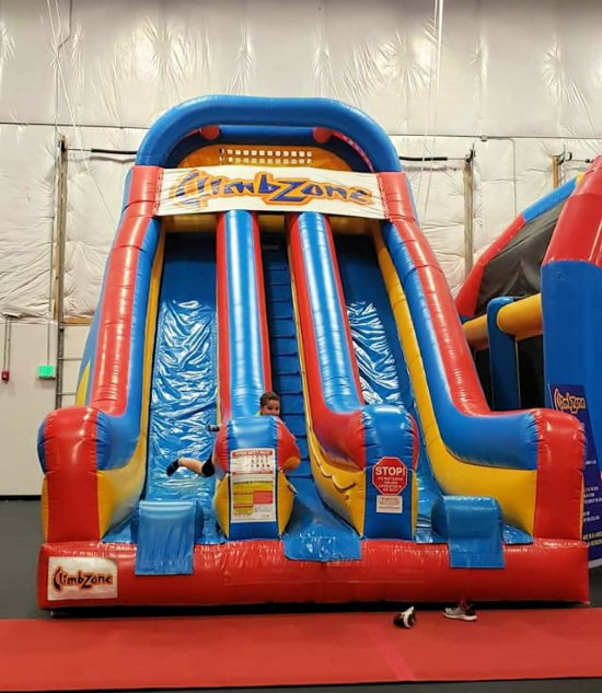 Inflatable Double Slide at ClimbZone White Marsh
