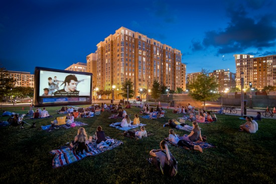 Capitol Riverfront Outdoor Movie Series in Washington, D.C.