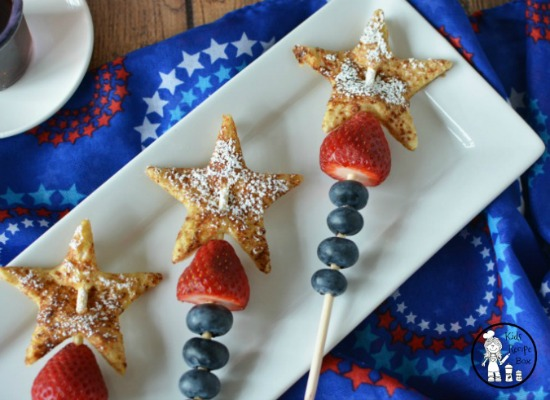 Patriotic French Toast Skewers from KidsRecipeBox.com