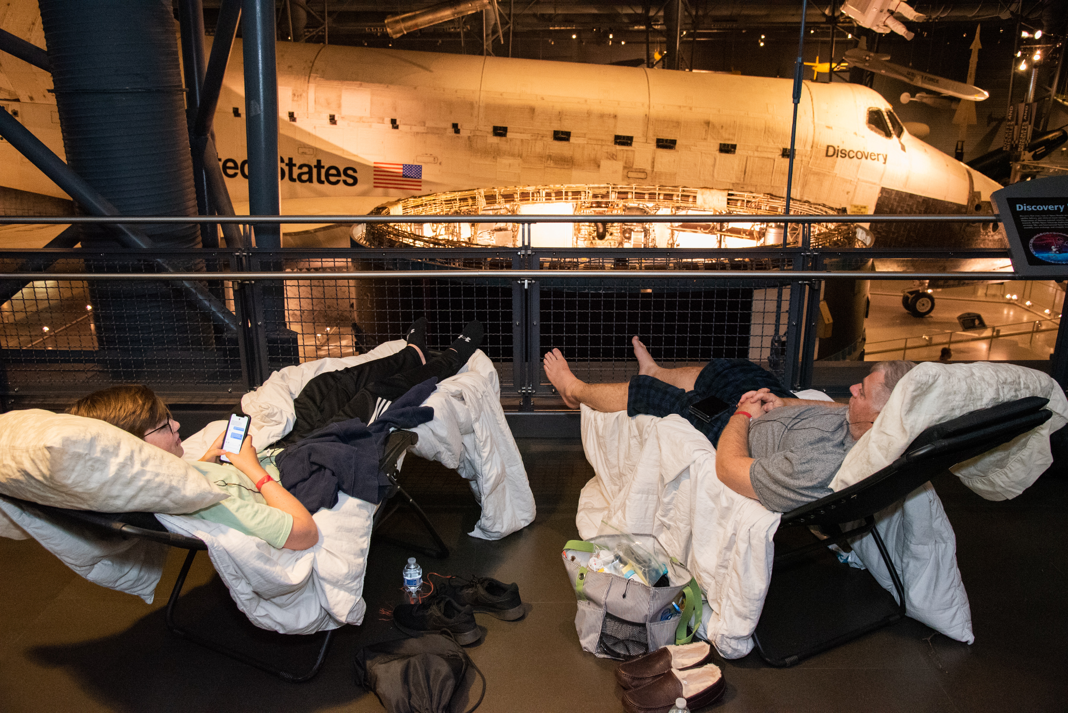 Sleepover at the National Air and Space Museum